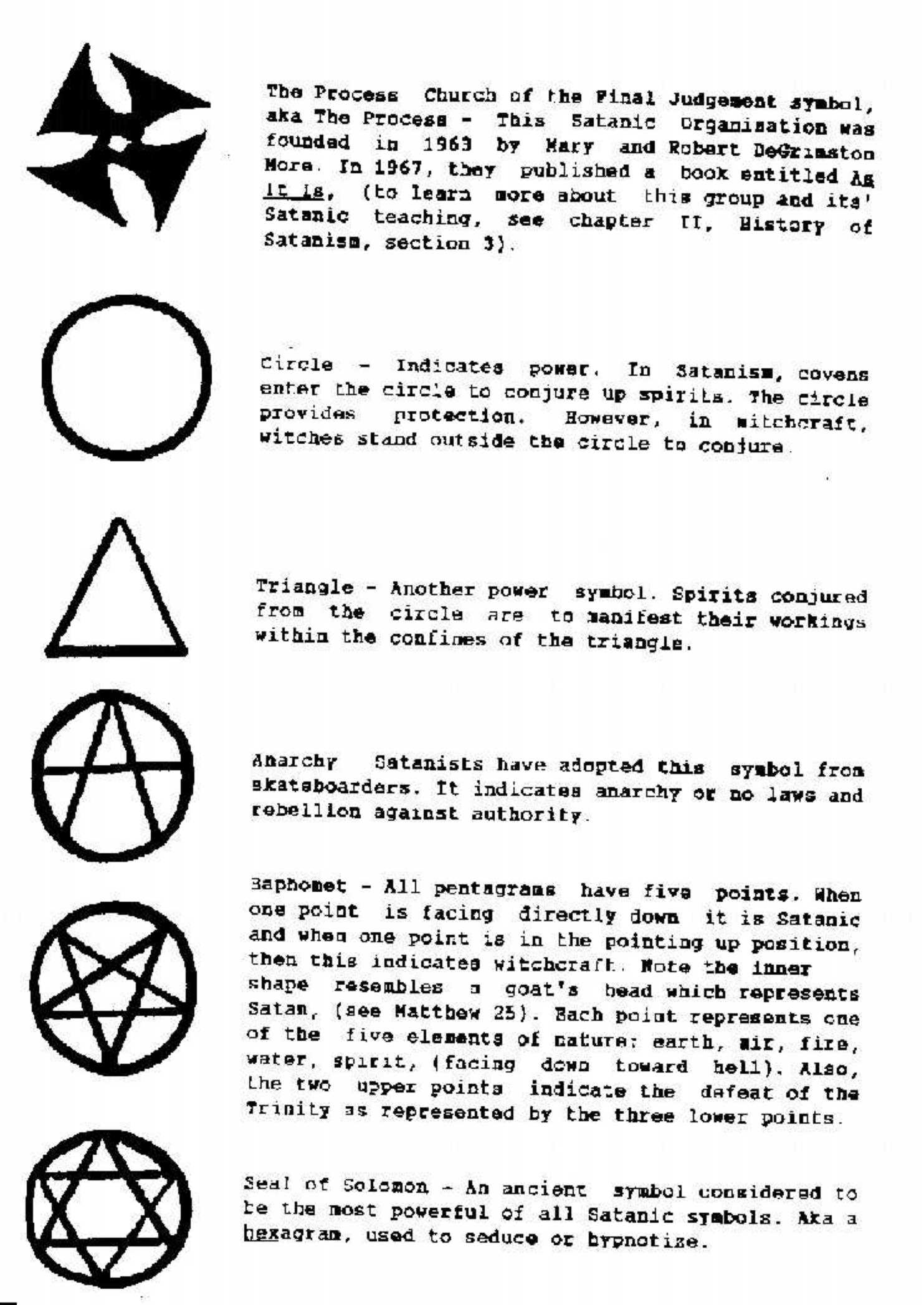 ... whatI'm talking about. Do any of the symbols mean anything to you